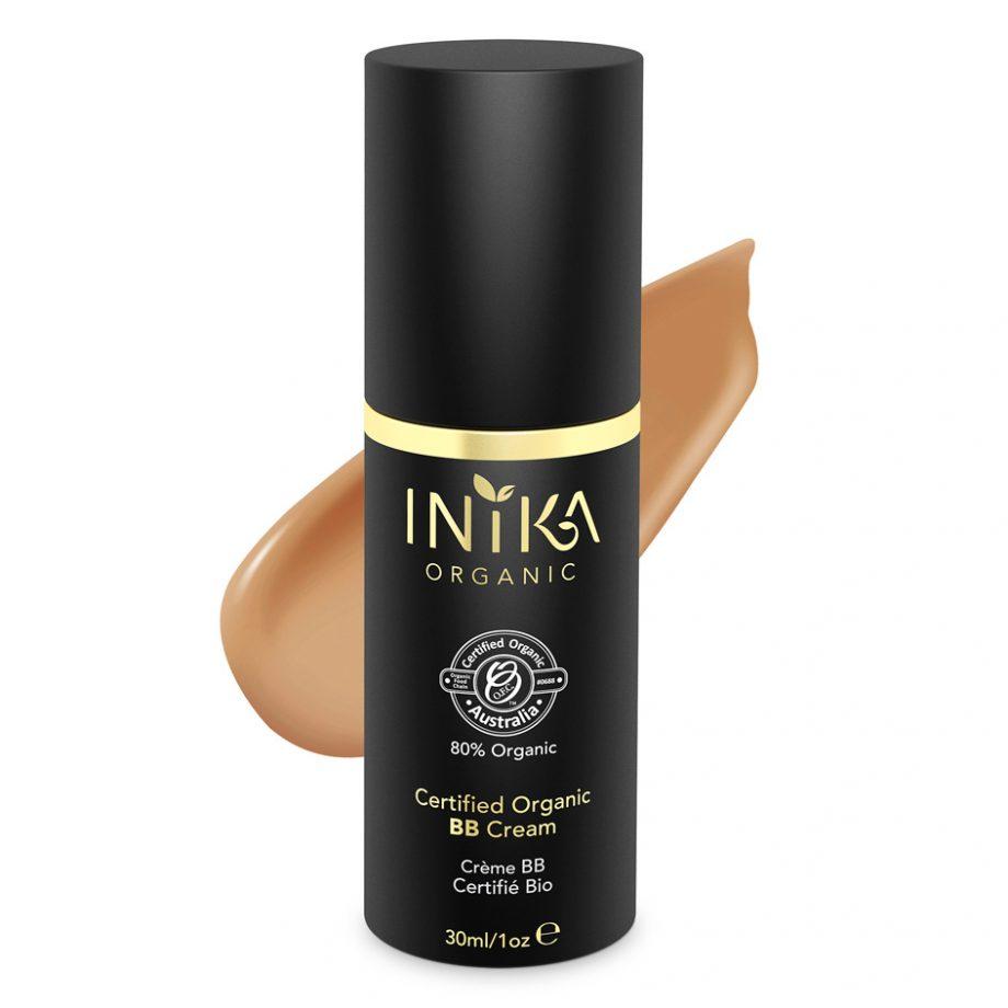 INIKA Certified Organic BB Cream Honey 30ml With Product 1
