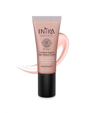 INIKA Certified Organic Light Reflect Cream 8ml With Product