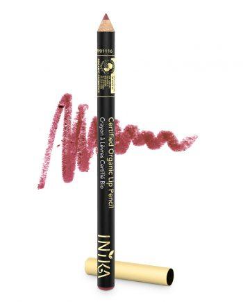 INIKA Certified Organic Lip Pencil 1.2g Sugar Plum with Swatch
