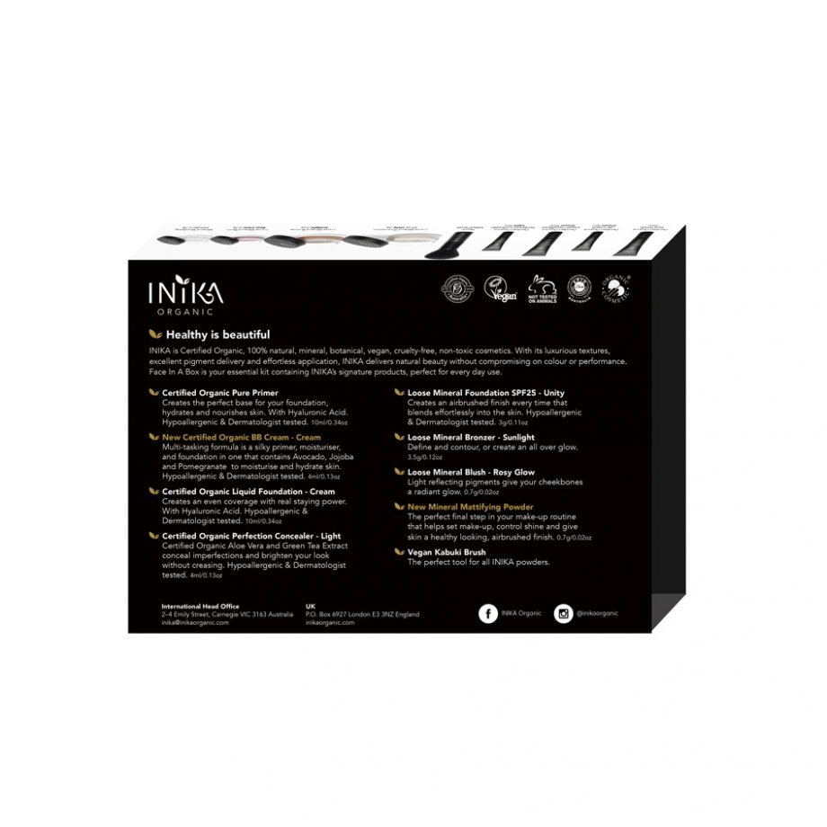 INIKA Packaging Face In A Box Back Unity