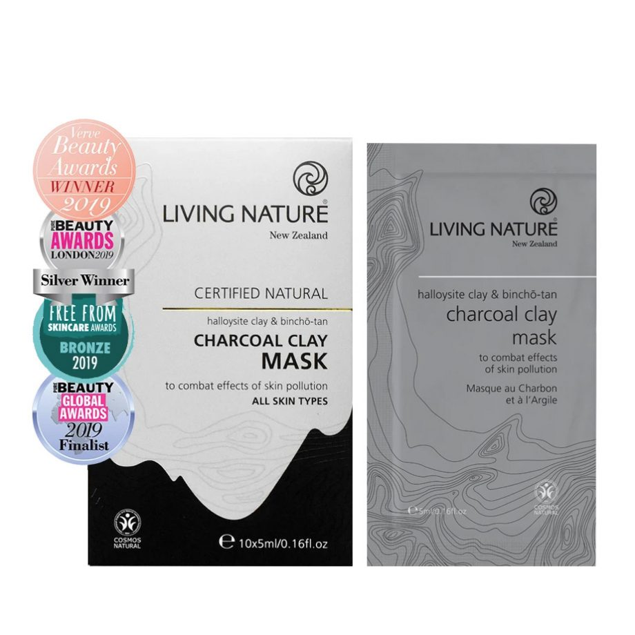 Living Nature Charcoal Clay Mask 10 x 5ml