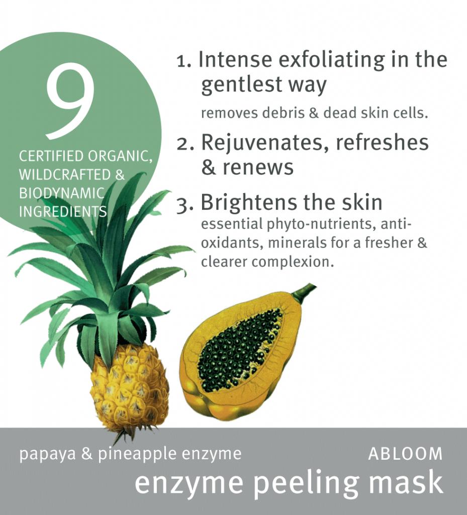 Abloom enzyme peeling mask high res
