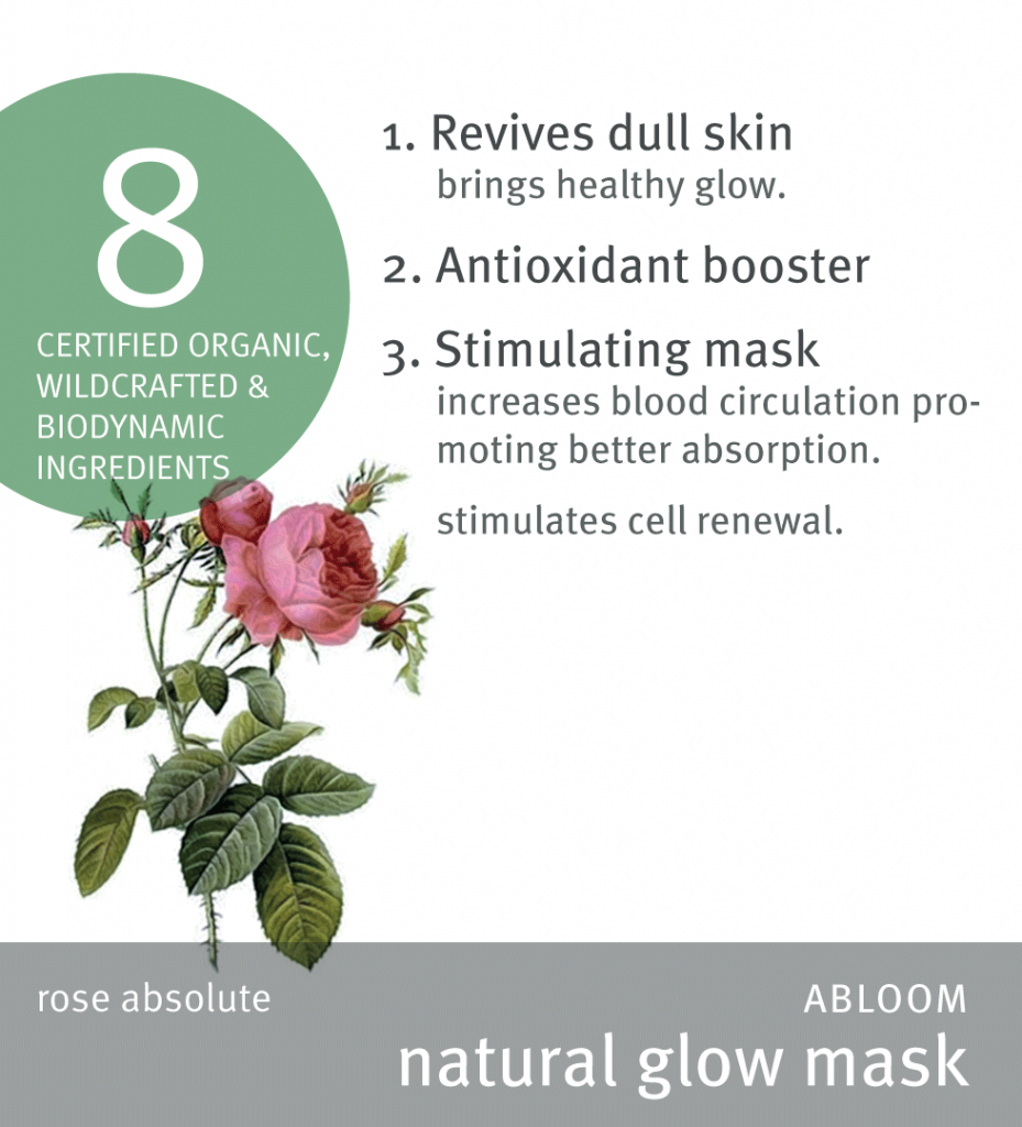 Abloom natural glow mask high res