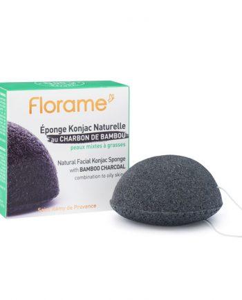 Florame Natural Facial Konjac Sponge with Bamboo Charcoal